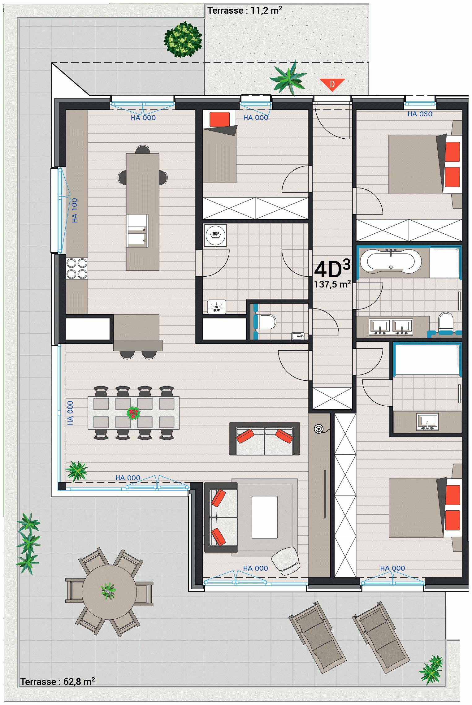 Wohnung 4D