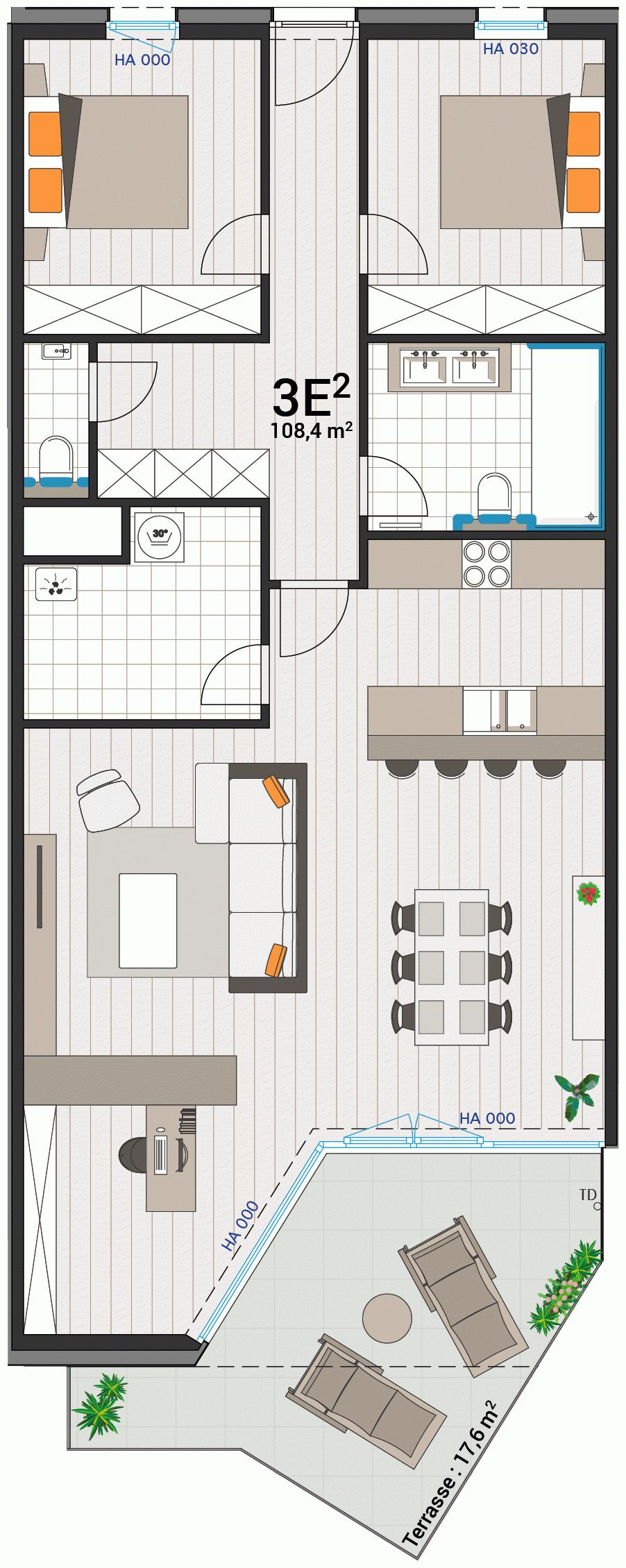 Appartement 3E
