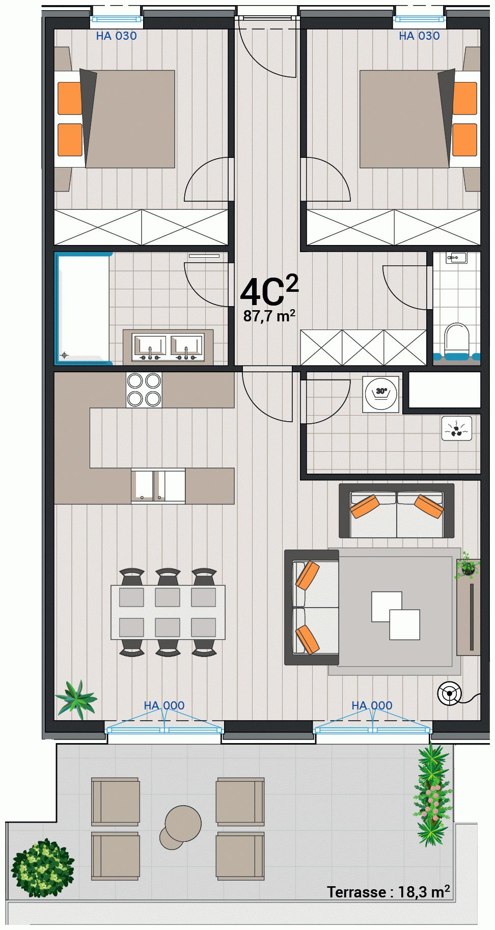 Appartement 4C