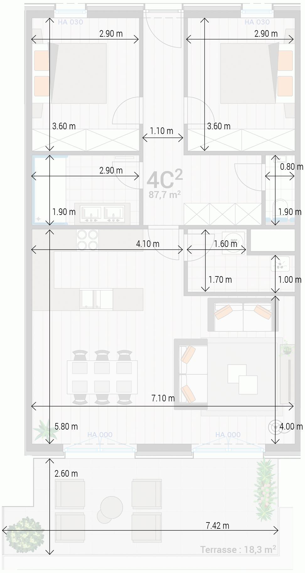 Wohnung 4C