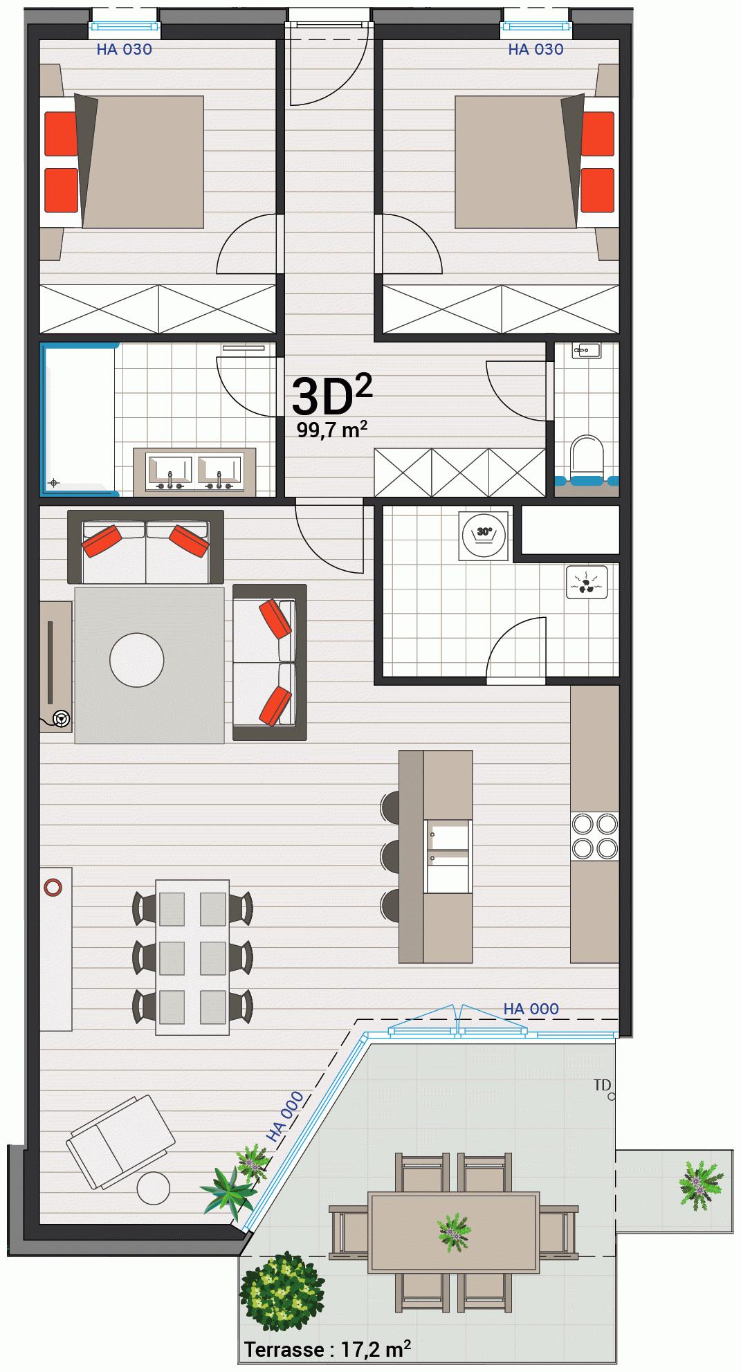 Wohnung 3D