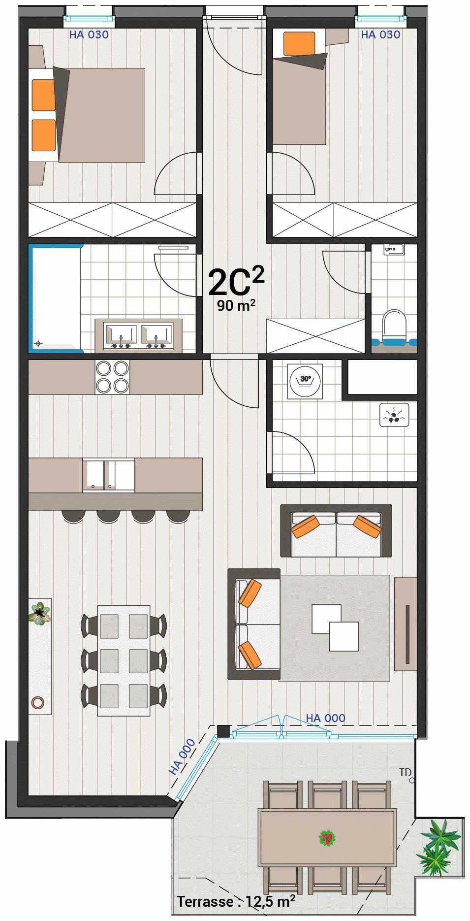 Wohnung 2C