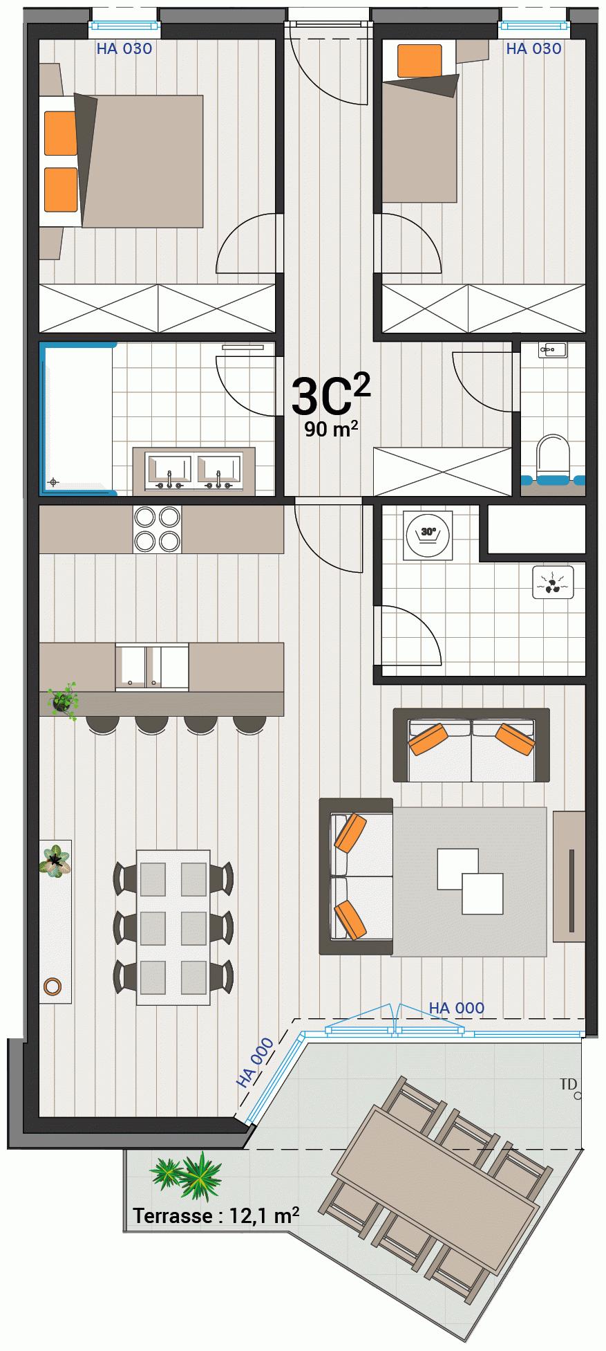 Appartement 3C