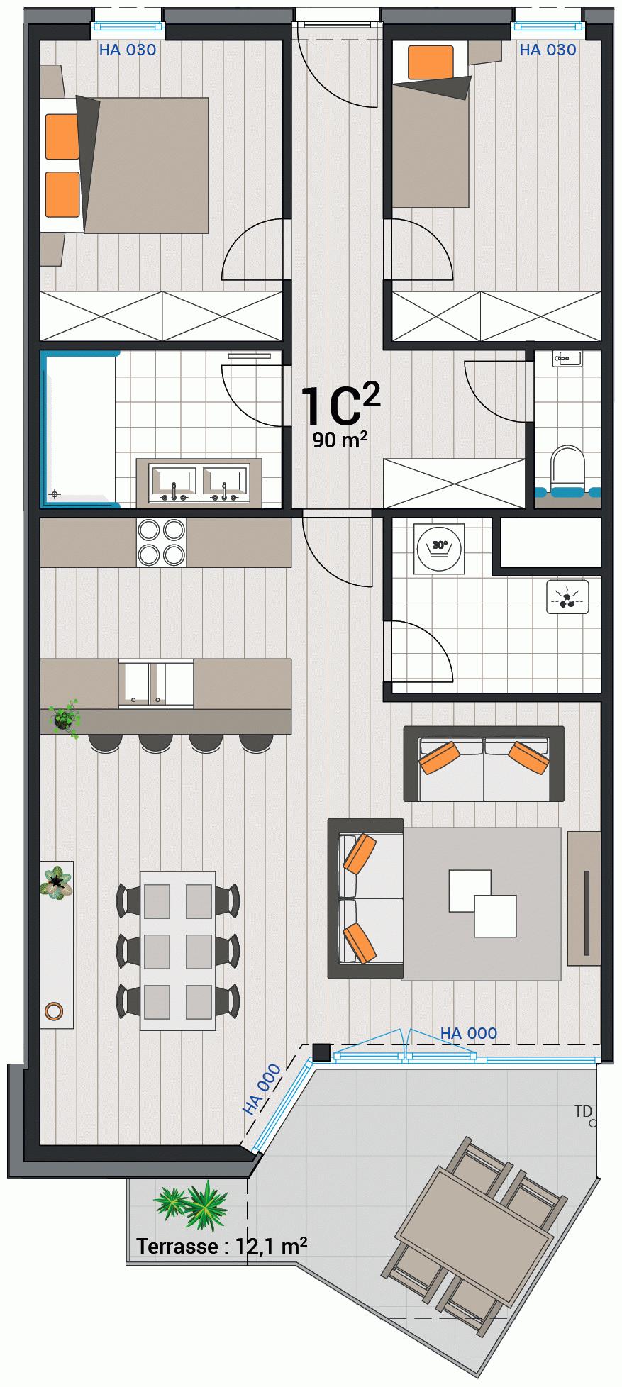 Appartement 1C