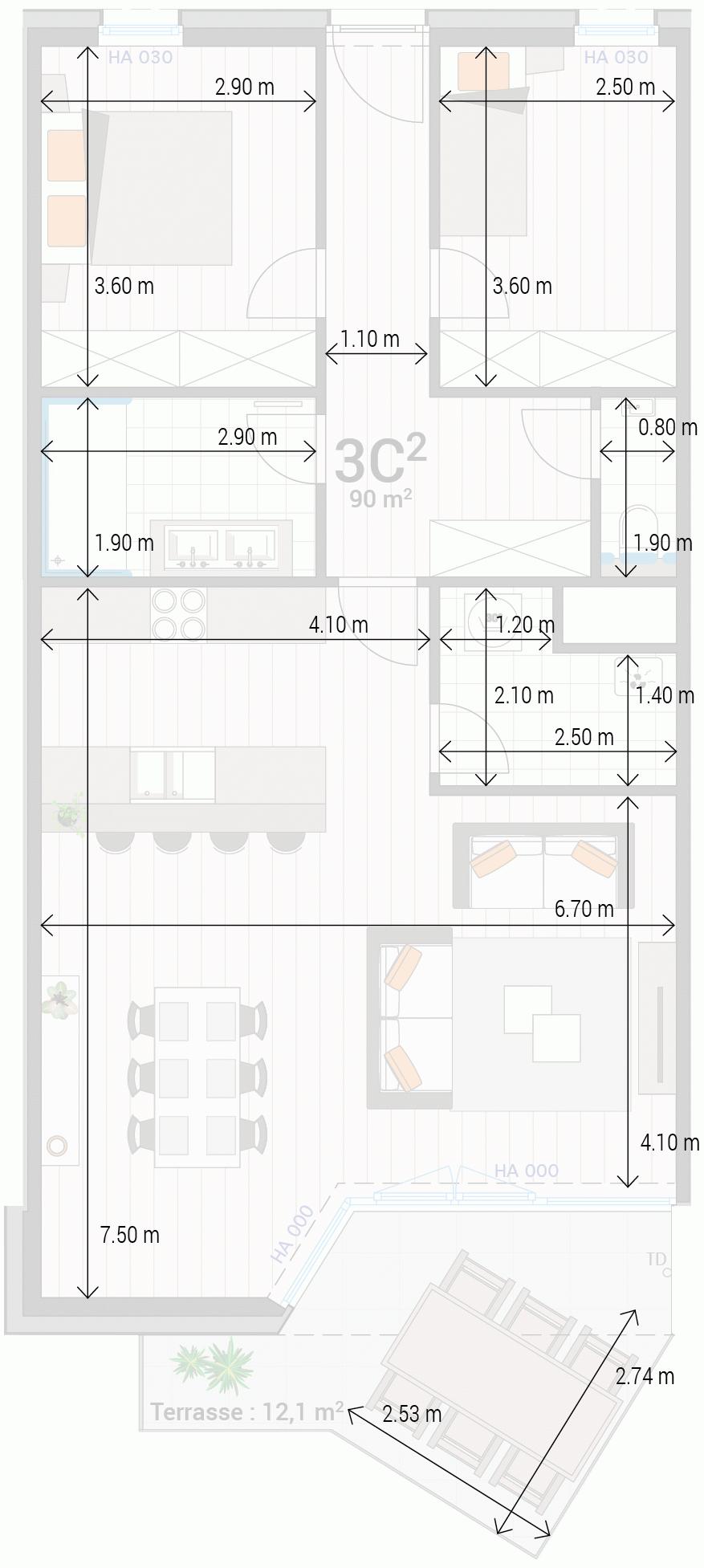 Wohnung 3C