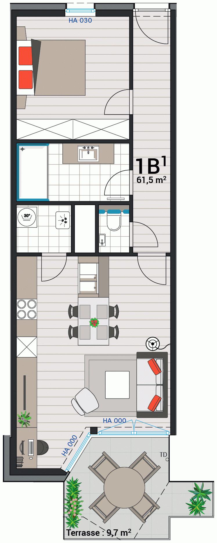 Wohnung 1B