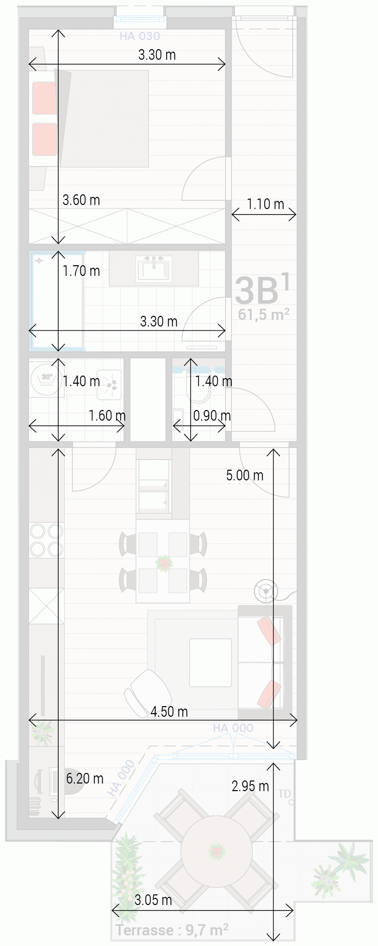 Wohnung 3B