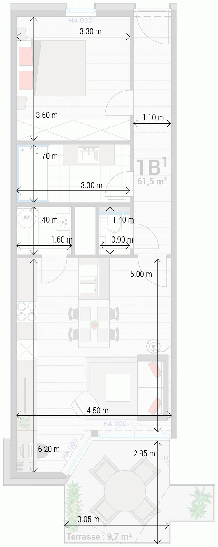 Appartement 1B