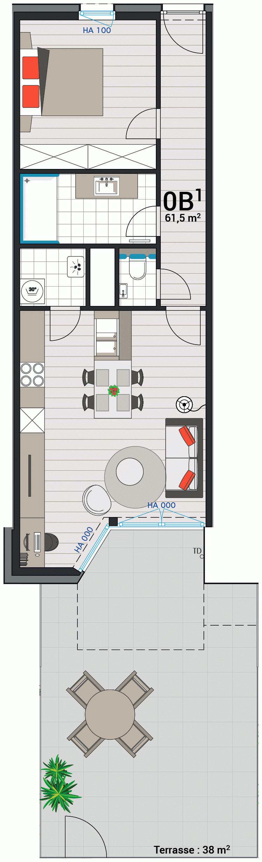 Appartement 0B